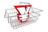 Sale Yen Basket Illustration