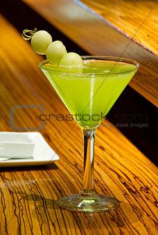 Green Melon Martini Cocktail