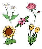 vector flowers 14
