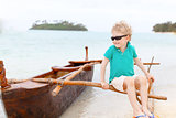 kid at outrigger canoe