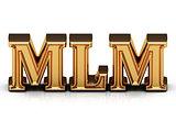 MLM 3d inscription with luminous spark on screen