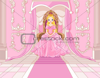 Princess on the throne