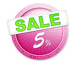 sale button 5%