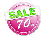 sale button 70%