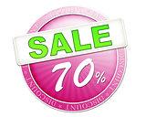sale button 70%