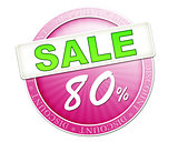 sale button 80%