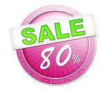 sale button 80%