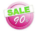 sale button 90%