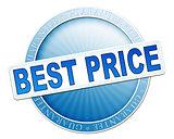 best price button blue