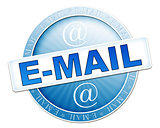 e-mail button blue