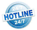 hotline button blue