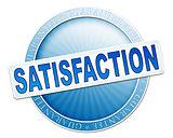 satisfaction button blue