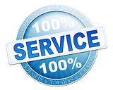 service button blue