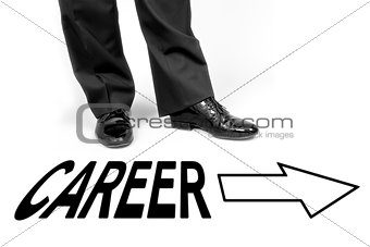 black shoes career