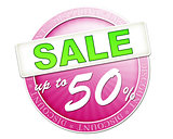 sale button up to 50%