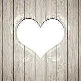 wooden heart frame