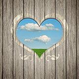 wooden heart nature