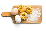 tagliatelle, eggs and flour