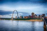 St Louis Missouri, city skyline