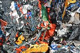 Plastic compressed for recycling