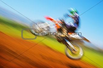 Biker on motocross
