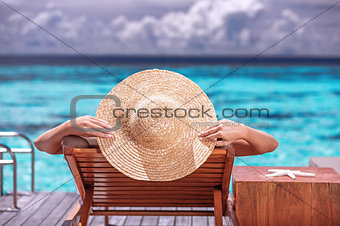 Luxury female on the beach
