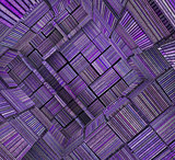 3d fragmented tiled mosaic labyrinth striped purple lavender mag