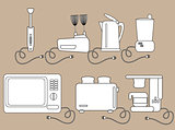 Household appliances, kitchen Electrical appliances.