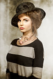 fashion girl with lovely hat