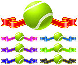 Tennis Ball with Ribbon set