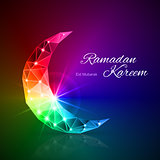 Greeting card of holy Muslim month Ramadan