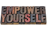 empower yourself in wood type