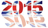 2015 Union jack Flag Numbers Outline Illustration