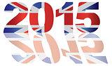 2015 Union jack Flag Numbers Outline Illustration