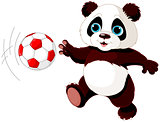 Panda hits the ball
