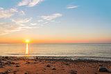 Ocean shore at sunrise