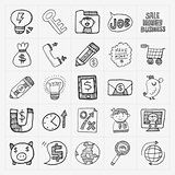 doodle business icon