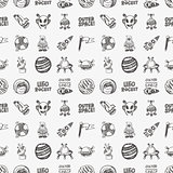seamless doodle space pattern