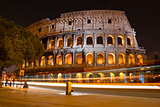 Colosseum in Rome, by night