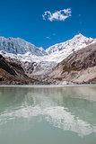 Llaca lagoon Andes Huaraz Peru