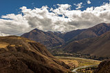 Urubamba valley peruvian Andes Cuzco Peru