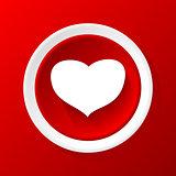 Love 3D Paper Icon