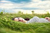Girl in a grass