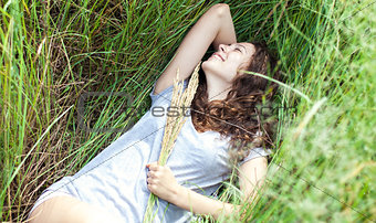 Girl in a grass
