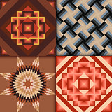 Retro colored geometric patterns background