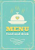 menu in retro style