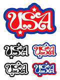USA retro label