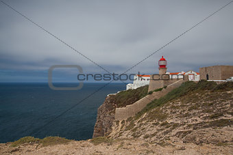 Lighthouse of Cabo de Sao Vicente, Sagres,Algarve,Portugal (buil