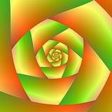 Spiral in Yellow Orange and Green