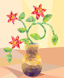 Low Poly Type Flower Arrangement